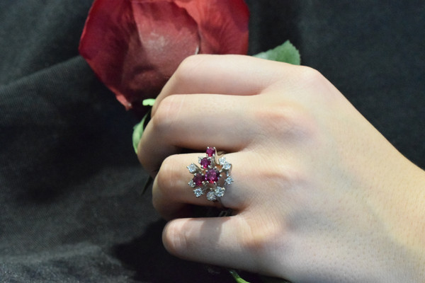 Ruby and Diamond Ring #7024