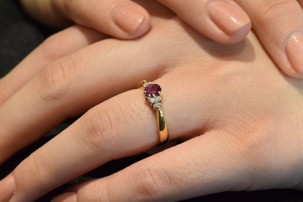 Ruby & Diamond Ring #3867