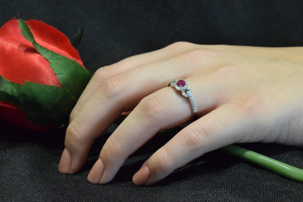 Ruby and Diamond Ring #6385