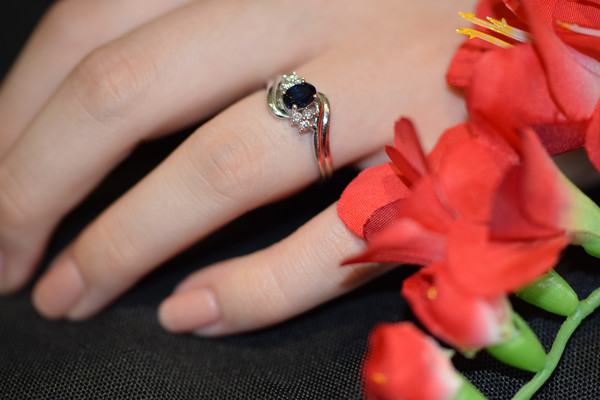 Sapphire and Diamond Ring #6546